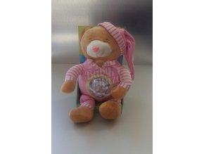 Plyšová hračka svítící CREACIONES LLOPIS medvěd 2016 – Růžový