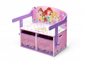 Dětská lavice s úložným prostorem Princezny-Princess